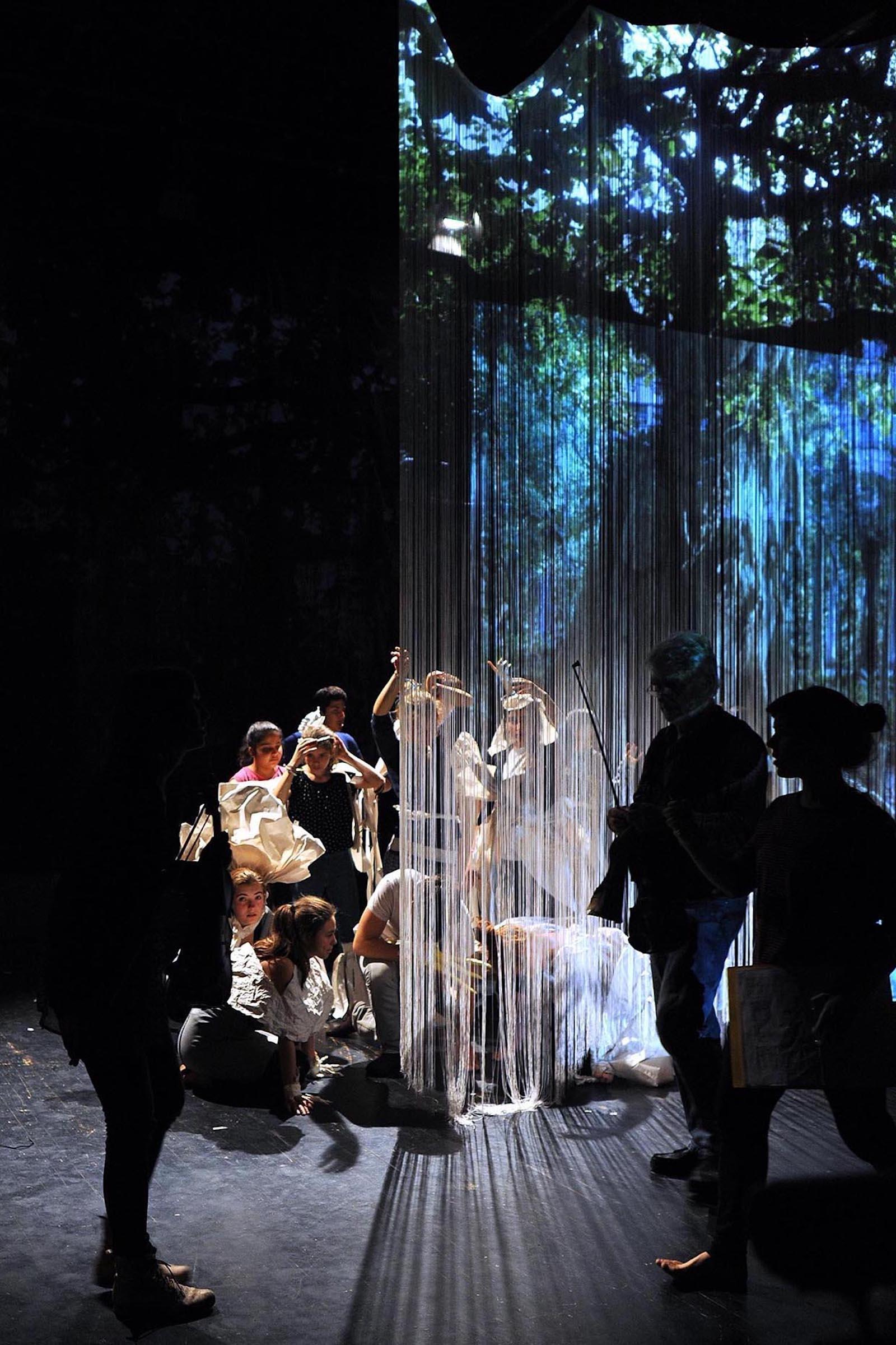 I-me+my Selfie, Tanztheater, Choregrafie: Mariana Humann und Ursula Pehlke Bild: Probe